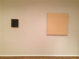 in daylight small paintings: installation view: karen baumeister [from right to left] checklist numbers 21. and 22.